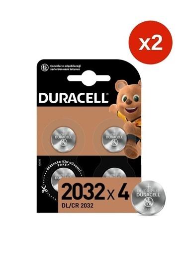 Duracell Duracell Dayanıklı 4'Li Paket X 2 (Dl2032/Cr2032) Özel 2032 3V Lityum Düğme Pil Renkli